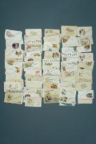 A quantity of Great War silk postcard inserts