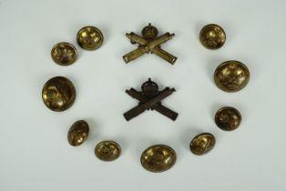 A group of Great War Machine Gun Corps insignia