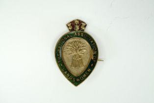A Great War National Association of Landswomen enamelled badge