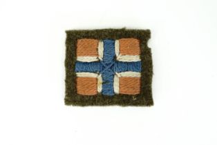 A Second World War Norwegian Forces in exile cloth formation sign