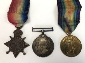 A 1914-15 Star, British War and Victory medals to 53843 Driver / 2nd Corporal A H Brooks, Royal