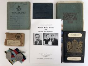 A Second World War RAF Caterpillar Club and Prisoner of War medal group, that of 1318320 Flight