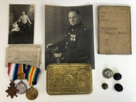 A Great War campaign medal group comprising 1914-15 Star, British War and Victory medals to 11874
