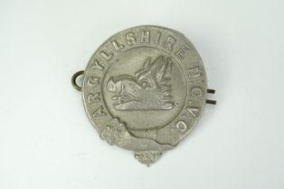 A Great War Argyllshire National Guard Volunteer Corps cap badge, 35 mm