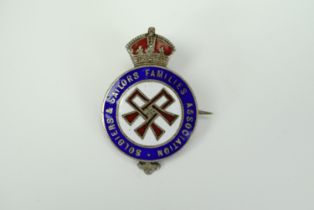 A Great War Soldiers' & Sailors' Families' Association enamelled silver badge