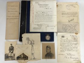 A British War medal to an Argyll and Sutherland Highlanders officer casualty, impressed to 2 Lieut C