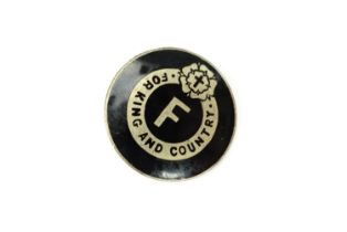 A British Fascists members lapel badge, numbered verso, 25 mm. [The 'British Fascists' were