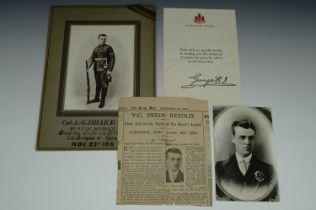 [Victorian Cross / Medal] A period portrait postcard of Corporal A G Drake, VC, 8th Rifle Brigade,