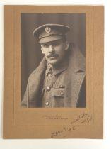 [Victoria Cross / Medal / Autograph] A signed portrait photograph of Sapper Adam Archibald, VC, a