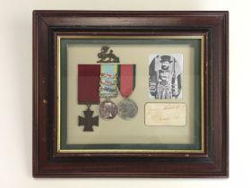 [Victoria Cross / Autograph] An autograph signature of James Owens, VC, 49th Regiment of Foot, cut