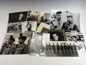 [Victoria Cross / Medal] Thirteen largely press photographs of VC recipients, approx 26 cm x 20 cm
