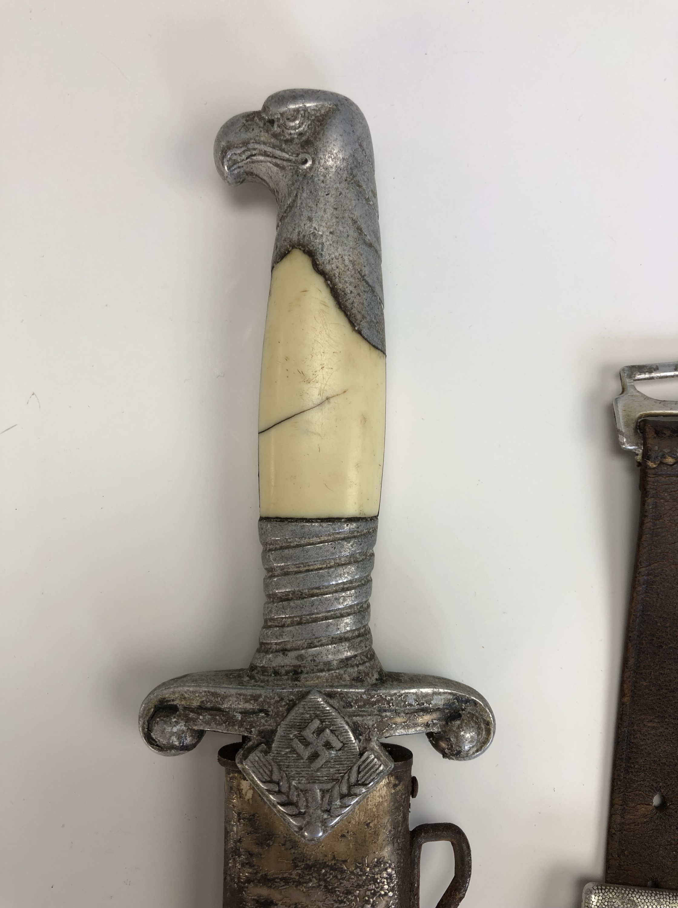 A German Third Reich RAD officer's dagger by Alcoso, with hanging straps - Image 2 of 9