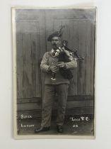 [Victoria Cross / Medal / Autograph] A signed portrait photographic postcard of Piper Daniel