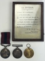 A Great War gallantry medal group, comprising a Distinguished Conduct Medal with British War and