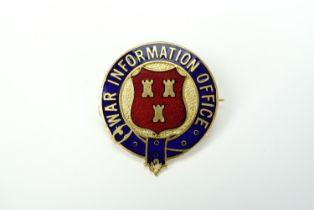 "A Great War ""War Information Office"" enamelled badge"