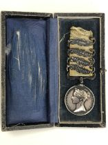 A Crimea medal with four clasps engraved to a French 82nd Regiment of the line recipient