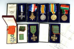 A Great War naval gallantry medal group comprising Distinguished Service Cross, 1914-15 Star,