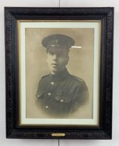 [Victoria Cross / Medal] A period sepia printed photographic portrait of Sergeant Robert Bye, VC,