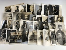 A very large group of period portrait photographs of Great War soldiers and veterans of the War,