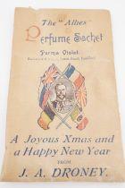 "A Great War patriotic ""The Allies Perfume Sachet"", 10 cm x 6 cm"