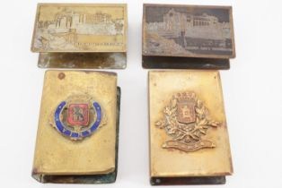 Four Great War commemorative matchbox covers