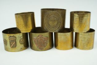 Great War trench art and souvenir napkin rings