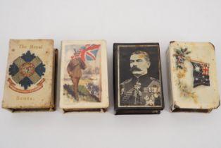 Four Great War Celluloid matchbox covers