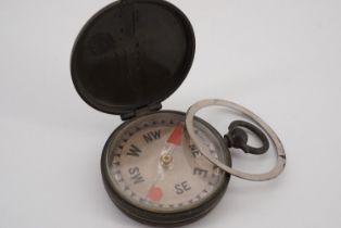 "A Boer War / Great War pocket compass, its lid engraved ""Lt Col F M Graham, R D Fusiliers"""