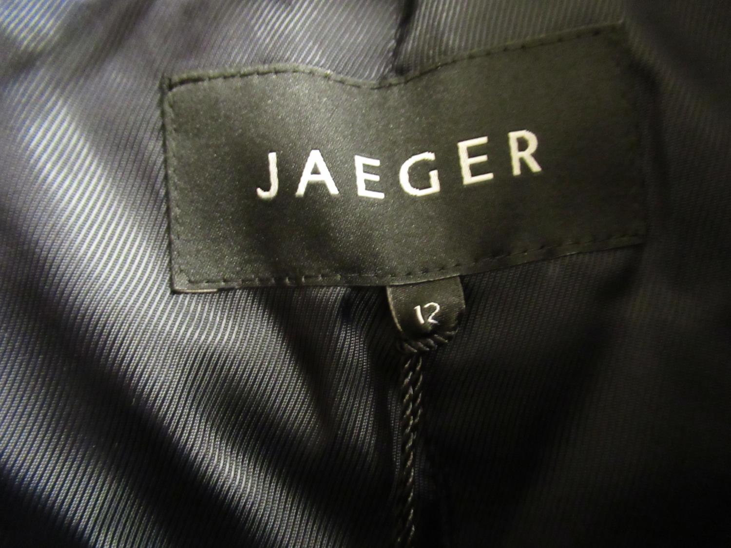 Jaeger ladies black and grey herringbone tweed coat, size 12 (as new with labels) and a Jaeger - Image 2 of 4
