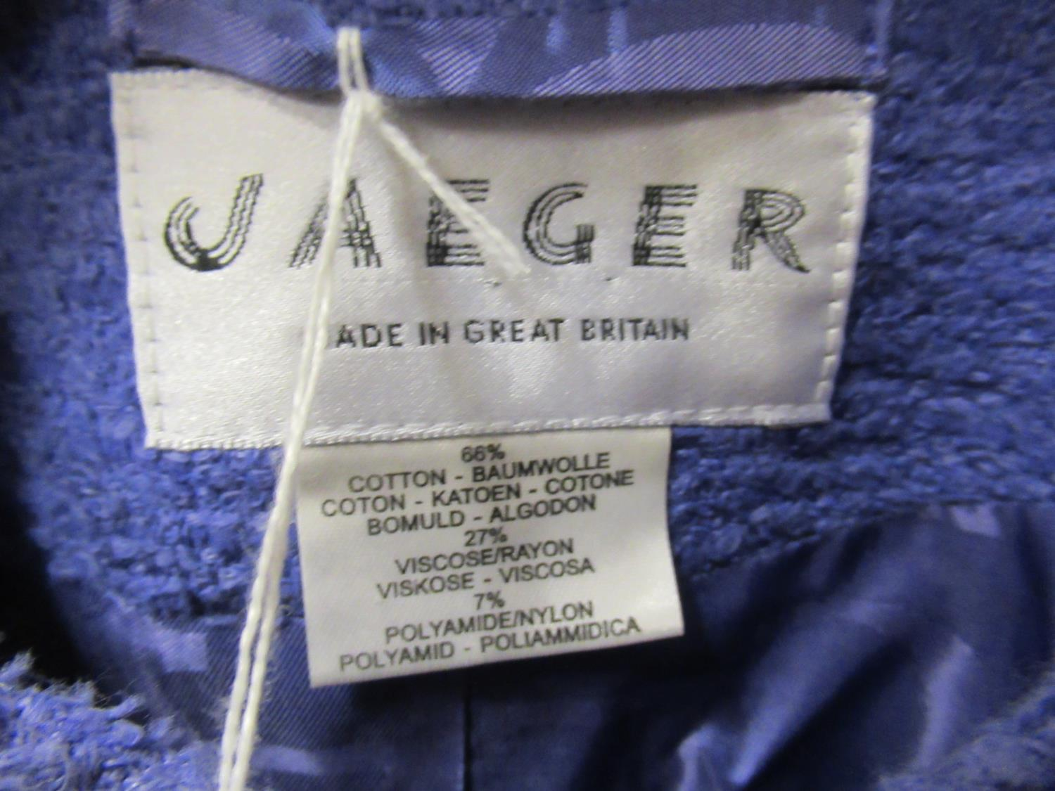 Jaeger ladies black and grey herringbone tweed coat, size 12 (as new with labels) and a Jaeger - Image 4 of 4