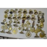 Collection of various horse brasses and swingers