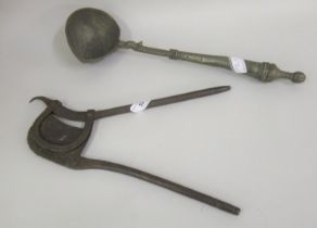 Steel betel nut cutter and a metal ladle