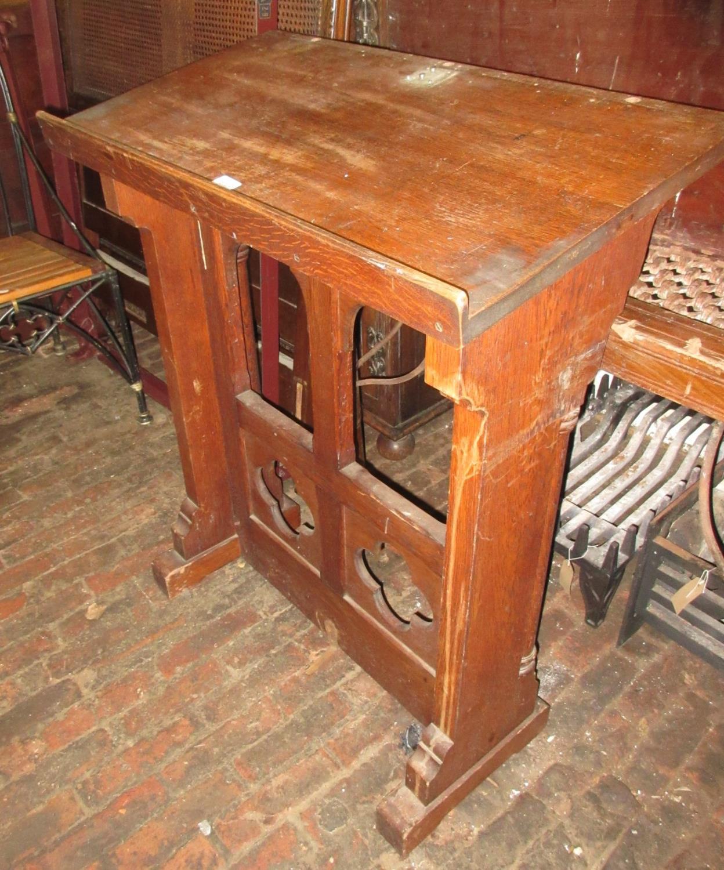 Victorian oak Gothic design lecturn