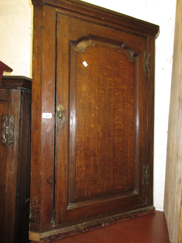 Mid 18th Century oak hanging corner cabinet