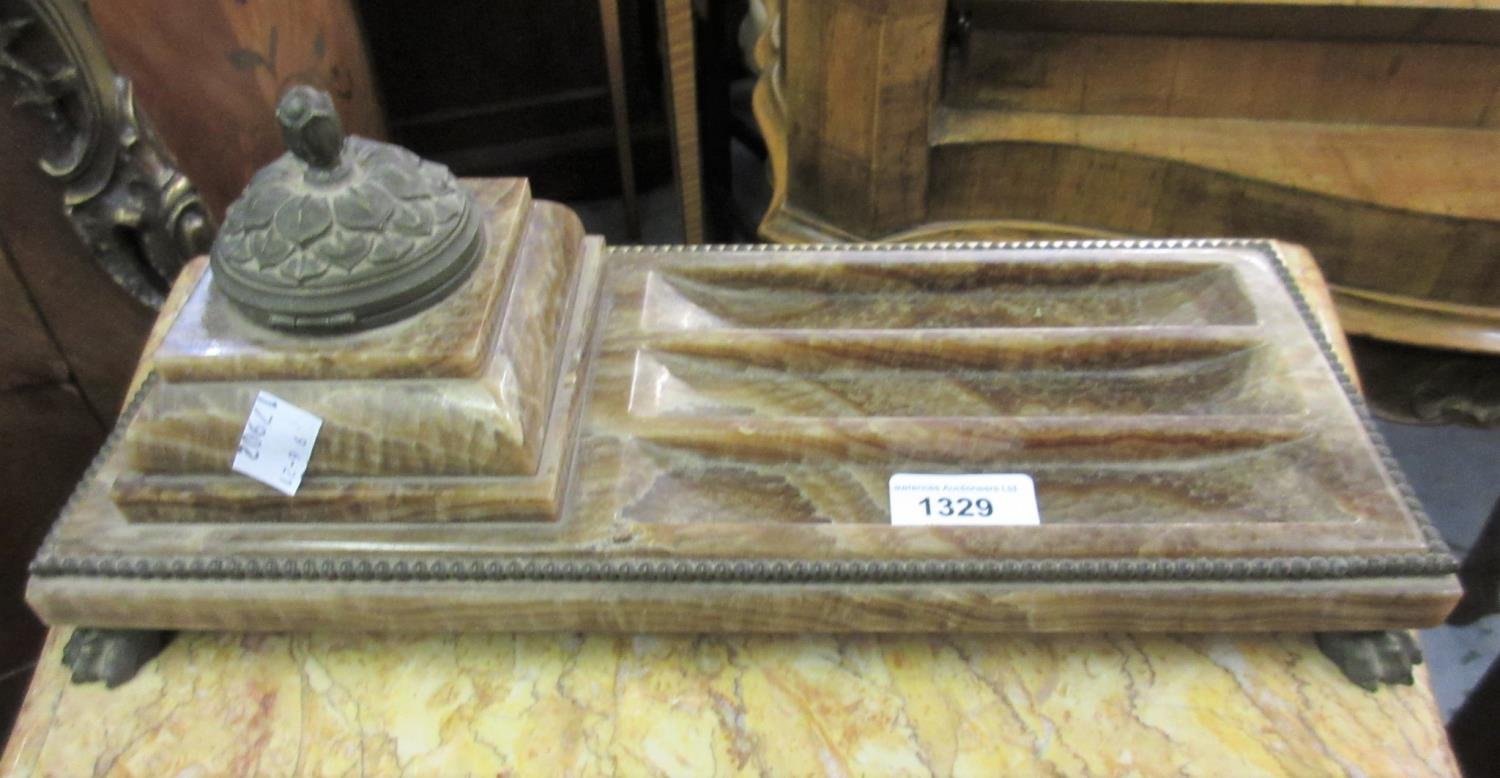 French marble and ormolu ink stand