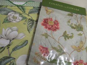 Colefax & Fowler ' Summer Palace Silks ' sample book 2006 and a Manuel Canovas ' Telma ' sample book