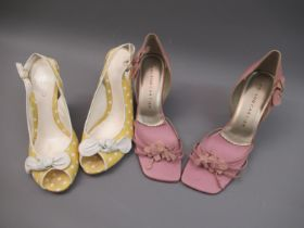 Two pairs of ladies shoes by Roland Cartier and Aldo, size 39 and 40