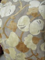 Pair of large country house curtains, 7ft 6ins x 7ft 6ins