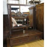 Small George III mahogany box toilet mirror together with a small late Victorian two door hanging