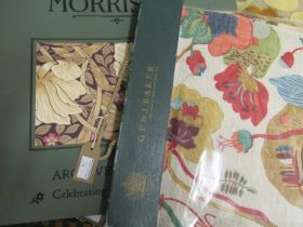 Morris & Co. archive wallpaper sample book 2011, together with a GP & J Baker ' Gatsby ' sample book