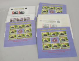 Quantity of Bluebell Railway mint decimal stamps in various blocks