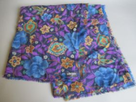 Liberty floral design woollen wrap