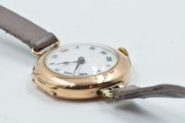 Ladies 9ct gold cased Rolex wristwatch, the enamel dial with Roman numerals, signed to the case