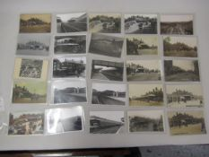 Seventeen postcards, including twelve RP's, views of East Croydon Station together with eight