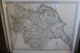 Four unframed and uncoloured maps of England and Wales by Stockdale 1809, 18.75ins x 16.75ins,