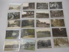 Twenty postcards Croydon related including fourteen RP's, Courtney Road, Croham Hurst, various views