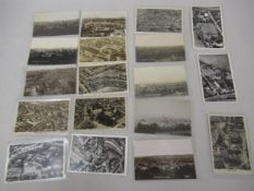 Collection of eighteen postcards aerial views of Croydon, all RP's