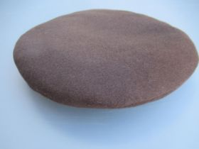 Hermes ladies brown cashmere beret, size 58, with original tag