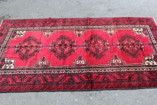 Turkoman rug with typical all-over design, 2.55m x 1.24m