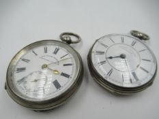 Silver cased keywind pocket watch, the enamel dial with Roman numerals signed Masters Limited,